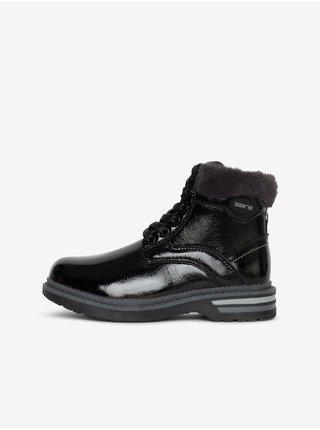 Černé klučičí kotníkové boty s umělým kožíškem SAM 73 Naomi