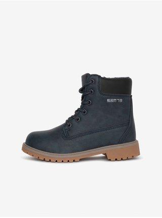 Černé klučičí kotníkové boty SAM 73 Shane