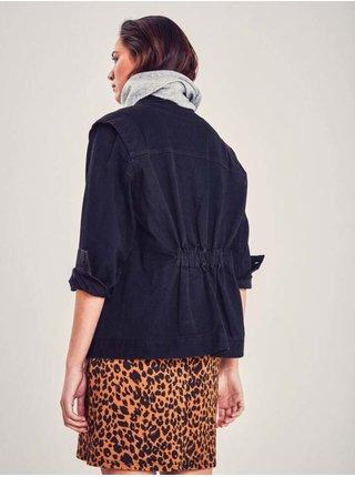 Rifľové bundy pre ženy ICHI - čierna