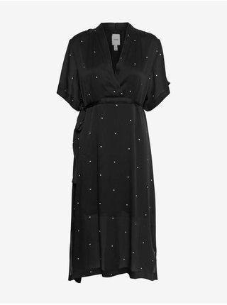 Šaty na denné nosenie pre ženy ICHI - čierna