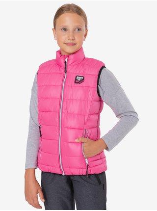 Neonově růžová holčičí vesta SAM 73 Rani