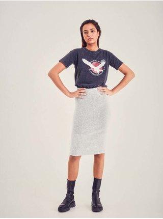 Tričká s krátkym rukávom pre ženy ICHI - tmavosivá