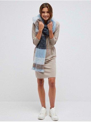Modrý dámsky pruhovaná šál Moodo