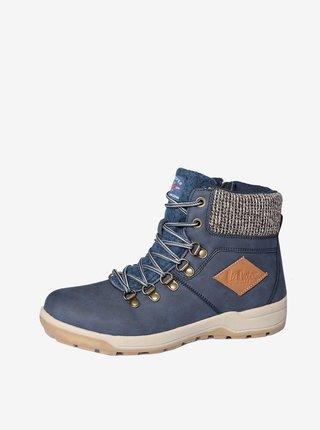Modré dámské zimní boty Lee Cooper