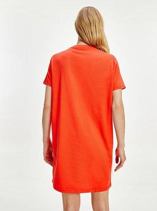 Oranžové šaty Tommy Hilfiger