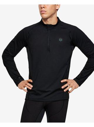 Tričká s dlhým rukávom pre mužov Under Armour - čierna