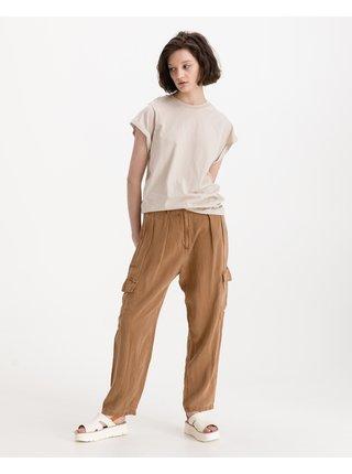 Nohavice pre ženy Replay - hnedá