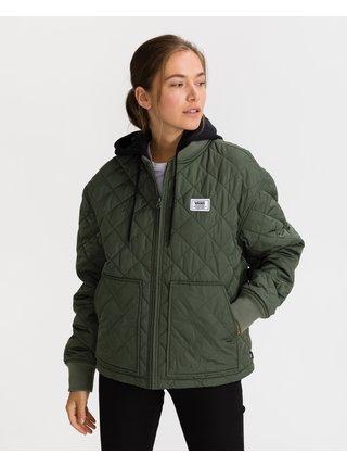 Tmavě zelená dámská prošívaná bunda VANS Boom