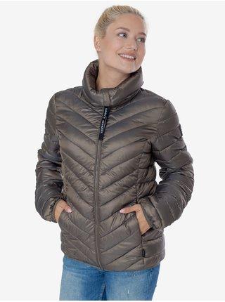 Světle hnědá dámská prošívaná zimní bunda SAM 73