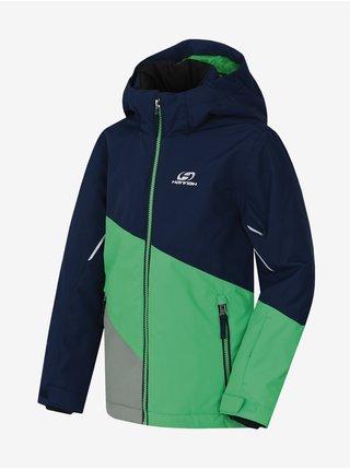 Zeleno-modrá detská zimná bunda Hannah