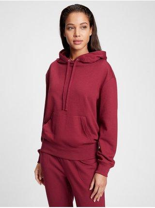 Červená dámská mikina fleece hoodie GAP