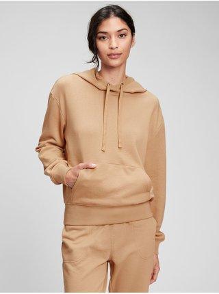 Béžová dámská mikina fleece hoodie GAP