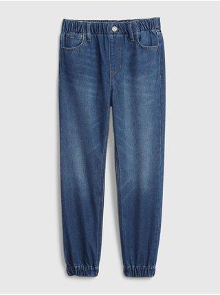 Modré holčičí džíny jogger knit GAP
