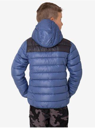 Černo-modrá klučičí prošívaná zimní bunda s kapucí SAM 73 Karl