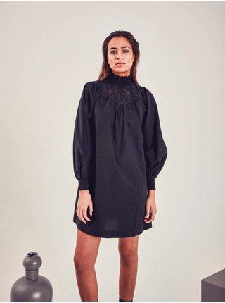 Čierne dámske šaty ICHI