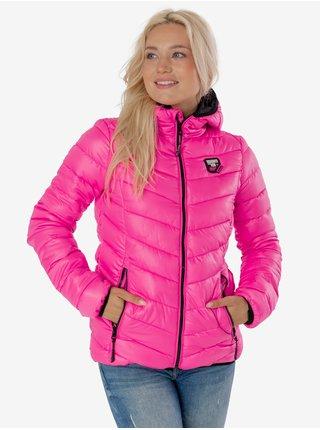 Růžová dámská prošívaná bunda SAM 73 Evelyn