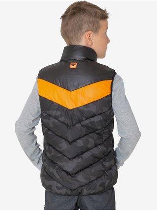 Oranžovo-černá klučičí prošívaná vesta SAM 73 Albert