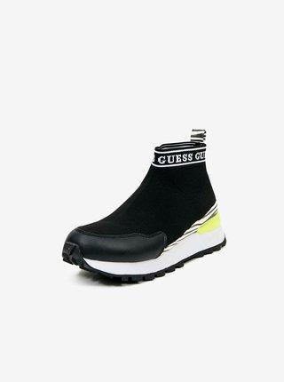 Čierne ponožkové tenisky Guess
