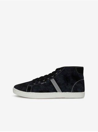 Čierne pánske členkové topánky SAM 73 Frank