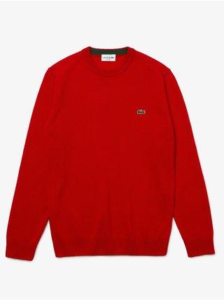 Červený pánský vlněný svetr Lacoste
