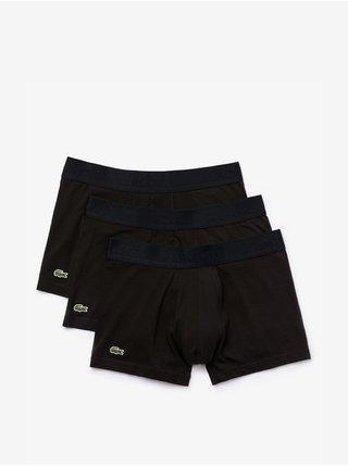 Sada troch boxeriek v čiernej farbe Lacoste