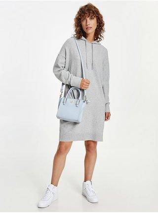 Svetlošedé svetrové šaty s kapucou Tommy Hilfiger