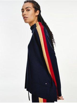 Tmavě modrý svetr s pruhy Tommy Hilfiger