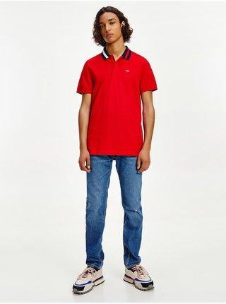 Červené polo triko Tommy Jeans