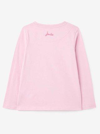 Růžové holčičí tričko s potiskem Tom Joule