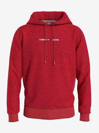 Červená mikina s kapucí Tommy Jeans