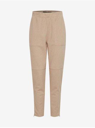 Béžové dámske nohavice ICHI