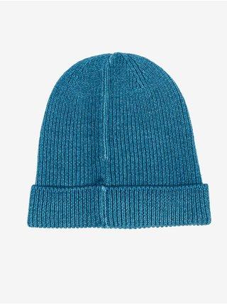 Modrá pánská žebrovaná vlněná čepice Blauer