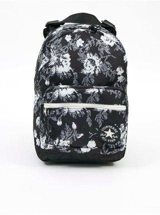 Bílo-černý vzorovaný unisex batoh Converse Go Lo Mini Backpack