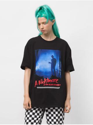 Černé unisex tričko s potiskem VANS Nightmare