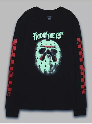 Černé dámské tričko s potiskem VANS Friday the 13th