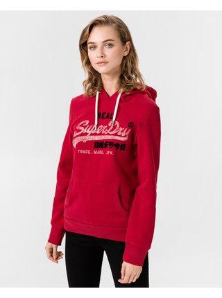 Mikiny pre ženy Superdry - červená
