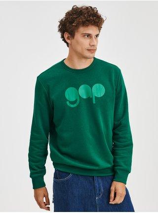 Zelená pánská mikina přes hlavu s logem GAP