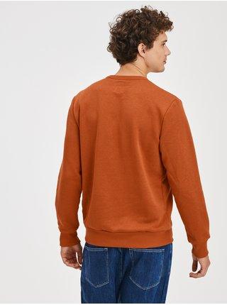 Oranžová pánská mikina přes hlavu s logem GAP