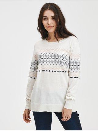 Bílý dámský svetr Pletený se vzorem GAP