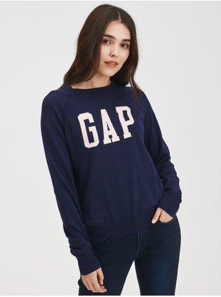 Modrý dámský svetr Pletený s logem GAP