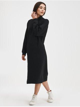 Černé dámské mikinové šaty na zip midi GAP