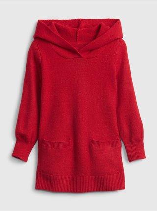 Černý holčičí svetr hooded tunic GAP