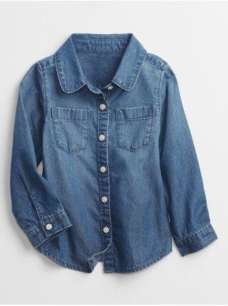 Modrá holčičí košile long slive denim GAP