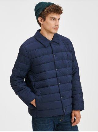 Modrá pánská bunda Prošívaná s límcem GAP