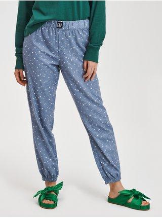 Modré dámské pyžamové kalhoty Flanelové GAP