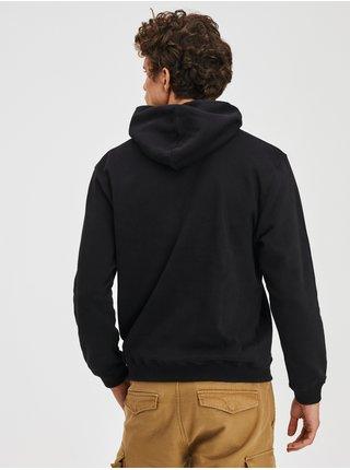 Černá pánská mikina fleece s kapucí GAP
