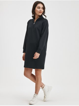 Černé dámské mikinové šaty na zip GAP