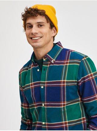 Žlutá pánská čepice Jednobarevná pletená čepice GAP
