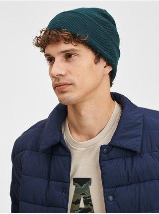 Zelená pánská čepice Jednobarevná pletená čepice GAP