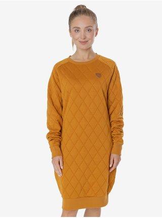 Mikinové a svetrové šaty pre ženy SAM 73 - horčicová